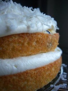 Blueberry & Coconut Cloud Cake