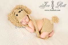 Handmade Loopy the Poodle, Handmade Crochet Puppy Dog Hat and Diaper Cover Set www.irarott.com