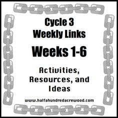 Cycle 3 Weeks 1-6 Resources      Please remember that it is not necessary to supplement Classical Conversations with crafts, worksheets, and...