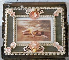 Sea Shell Embellished Picture Frame