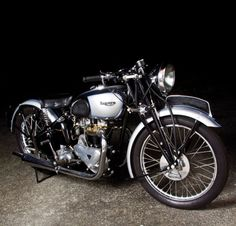 A thing of beauty is a joy forever - Triumph twin.