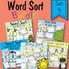 I'm excited to say that I have released 6 bundles today!!! They contain the word sorts I created for all 30 stories for Harcourt Trophies for 2nd grade. All 6 sets will get you through the whole school year. Each product contains the word sort, activity sheets, a game, and vocabulary cards for the story. All 6 sets are 1/2 off for the first 48 hours!
