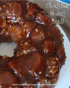 Sticky Bun Monkey Bread, a step up from plain Monkey Bread, Just look at all that caramel, yum!