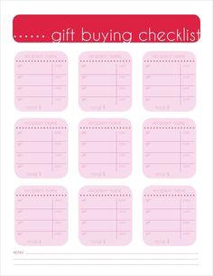 gift buying checklist