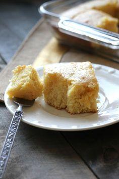 Sweet Cornbread - moist and delicious! bakedinaz.com