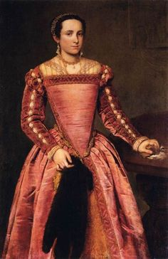 Woman in a Red Dress by Giovanni Battista Moroni, ca 1560 Italy, Gemäldegalerie Alte Meister