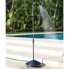 solar heated outdoor shower