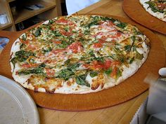 Students' favorite pizza - local and fresh ingredients from Arizmendi Bakery, an employee-owned co-op in San Rafael, CA