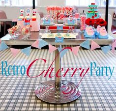 Retro Cherry Birthday Party - Kara's Party Ideas - The Place for All Things Party