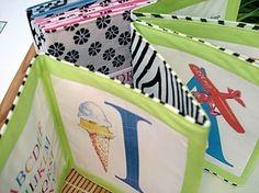 Custom cloth book alphabet baby keepsake  in by DrawntoLetters, $54.00