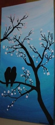 my first canvas painting will be something simple like this