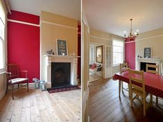 Living room on pinterest wood burning stoves victorian for Victorian terrace dining room ideas