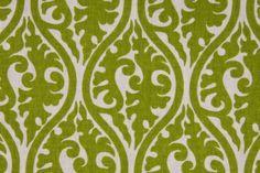 Premier Prints Kimono Printed Cotton Drapery Fabric in Chartreuse/White $7.48 per yard