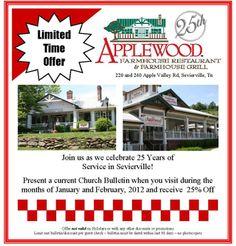 Applewood Farmhouse Restaurant - Sevierville, TN