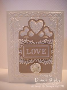 Beautiful neutral card