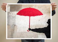 Paris Graffiti, Red Umbrella from @Nichole Robertson