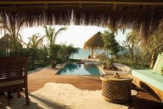 plunge pool, honeymoon, heaven, benguerra island, luxury travel