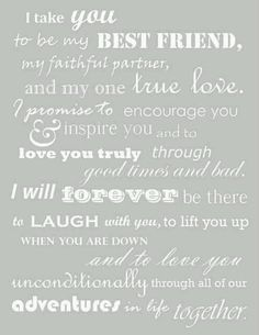 So perfect for us! Ideas, Love You, Inspiration, Best Friends, Dreams, Stuff, Quotes, Wedding Vows, Traditional Wedding