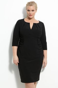 Adrianna Papell Ruched Matte Jersey Sheath Dress (Plus) | Nordstrom