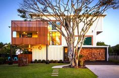 Australia's Largest Cargotecture House is a Modern Masterpiece Built from 31 Shipping Containers