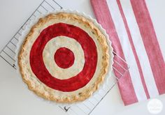 Double Cherry Bullseye Pie   Inspired by Charm