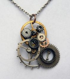 Gears!     Gear Pendant Seven by amechanicalmind on Etsy