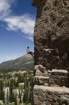 go rock climbing!