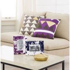 Nate Berkus Decorative Pillows from Target. Love the geometric pattern and use of gold.