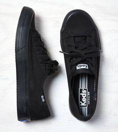 Black Keds Double Up Sneaker #black #keds
