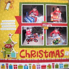 frame, christma layout, christma scrapbook