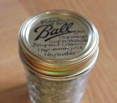 dry ranch dressing mix in a mason jar   Ranch Mix (makes one quart dry mix)
