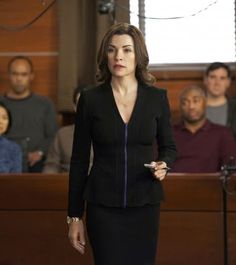 The Good Wife - Black Suit, Purple Zipper