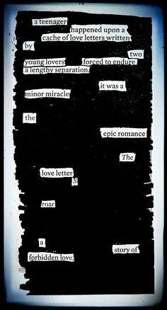 """""""Epic Romance"""" by Kevin Harrell  www.blackoutpoetry.net"""