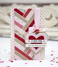 I Love You Card by Ashley Cannon Newell for Papertrey Ink (February 2014)