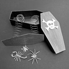 Make a Trick (not a treat) coffin box - dollar store craft