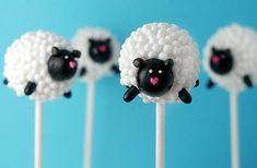 baptism: sheep cakepops
