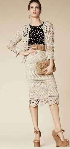 Crochet Frashion - Dolce and Gabbana 2013 + diagram
