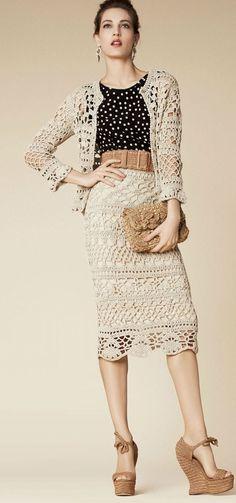 Crochet Frashion - Dolce and Gabbana 2013 + diagram