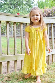 Princess Belle from Beauty and the Beast Play Dress with Screen Printed Rose details