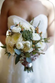 bridal bouquets, fall bouquets, wedding bouquets, green, roses, wedding flowers, ivory, fall weddings, desert rose