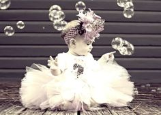 baby and bubbles. So cute! If only Katelynn would wear headbands...