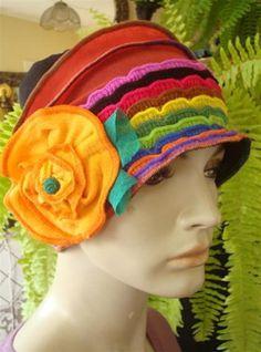 Womens Elegant hat 1920s Womens beanie Hat Soft Chemo headwear Flapper hat