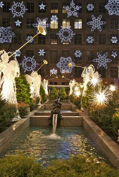 Rockefeller Center with Lord & Taylor Snowflakes, NYC