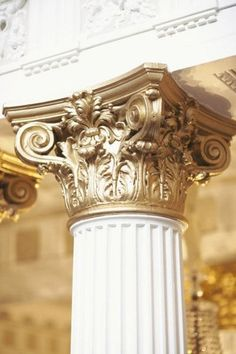 The Details. Xk #kellywearstler #gold #home #inspiration #details #column