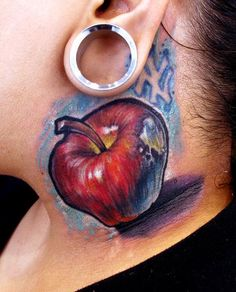 Stefano Alcantara - Apple neck tattoo