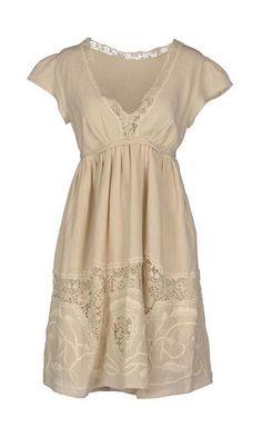 Twin-set Simona Barbieri White Short Dress