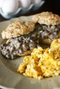 Biscuits with Creamy Gravy & Sausage @Nakita L. Roberts