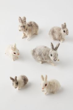 Little felted rabbits