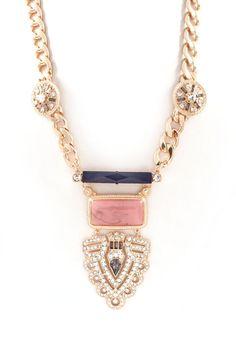 Joanna Statement Necklace in Gold on Emma Stine Limited