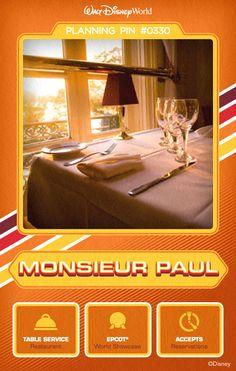 Walt Disney World Planning Pins: Monsieur Paul